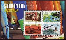 AUSTRALIA 2013 SURFING AUSTRALIA MINIATURE SHEET FINE USED.