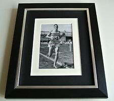 Roger Bannister SIGNED 10x8 FRAMED Photo Autograph Display 4 Minute Mile & COA