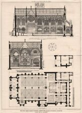 Building News Church planning competition, design R.H. Haines, Oxford 1873