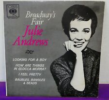 JULIE ANDREWS Broadways Fair EP 45 CBS AUSTRALIA MONO Pic/Sleeve 7