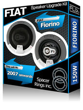 Fiat Fiorino Front Door Speakers Fli car speakers + speaker adapter pods 150W