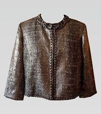 3/4 Sleeve Wool Lurex Jacket