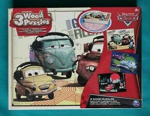 🆕 SEALED DISNEY PIXAR CARS 3 WOODEN JIGSAW PUZZLES 24 PIECES EACH  FREE P&P