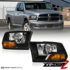 2009-2018 Dodge Ram 1500 2500 3500 Black FACTORY STYLE Headlights Headlamps 10