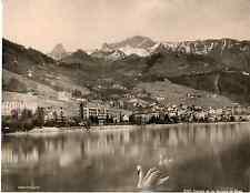 Photoglob, Suisse, Clarens et les rochers du Nave  vintage photomechanical Pho