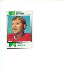 Bruce Gossett San Francisco 49ers Richmond Spiders Signed Autograph Photo Card