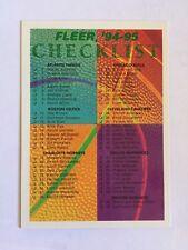 Fleer 1994-95 NBA Basketball Checklist Card #238