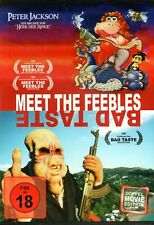 MEET THE FEEBLES & BAD TASTE - NEW UNCUT DVD - Peter Jackson - Double Feature