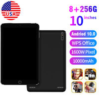 "10.1"" Tablet Android 10.0 8G+256G Triple Camera SIM WIFI 4G-LTE Phablet Black US"