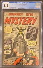 JOURNEY INTO MYSTERY #85 CGC 3.5 1ST APP LOKI 3RD APP THOR KEY MARVEL COMIC BOOK
