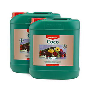 CANNA Coco Nutrient Flowering Plants Growth Bloom Hydro Soil Coco 10L A&B SET