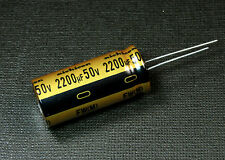 2pcs Nichicon FW 2200uf 50v Radial Electrolytic Capacitor for Audio NEW