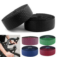 2 Pack 2M Road / CX Bike Bicycle Handlebar Drop Bar Tape / Wrap Set With Plug