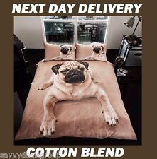Pug Puppy Pooch Dog Pup Animal Print Doona Duvet Quilt Cover Set Queen