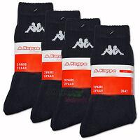 Original Kappa Socken schwarz 6, 9 oder 12 Paar Tennissocken Sportsocken Socks