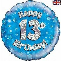 Happy 13th Birthday Teenager Helium Balloon Party Ware Decoration Novelty Gift