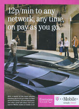 T Mobile 12p Min To Any Network 2007 Magazine Advert #194