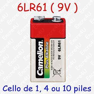 Pile Alcaline Plus référence 9V LR22 LF22 6LR61 6LF22 MN1604 9 volts x 1 4 10