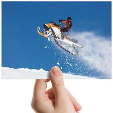 "Snow Mobile Jump Sports Ski Small Photograph 6"" x 4"" Art Print Photo Gift #15988"