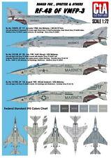 CTA (Cut Then Add) - Romeo Fox, Specter & Others: RF-4B of VMFP-3 Decal - 1:72