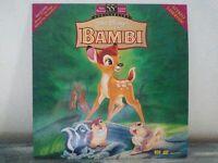 Walt Disney's Masterpiece Bambi Laserdisc LD 55th Anniversary Limited Edition