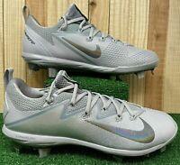 Mens Nike Lunar Vapor Ultrafly Elite Baseball Cleats Grey 852686-001 NWB