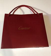 Cartier Red Paper Shopping Bag W/ Gold Logo