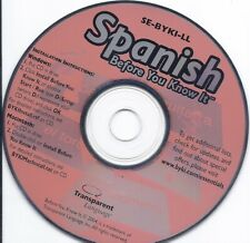 Learn Spanish Before You Know it Cd (Transparent)