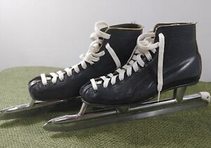 PLANERT Bauer Vintage Leather Ice Skates Sz 6 w/ Blade Guards