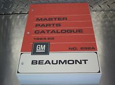 "BEAUMONT MASTER PARTS CATALOG 64-69 ""July 1969 printing"""