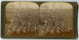 Japan Military. Peace Festival in Manchuria , China Vintage Photo Stereoview