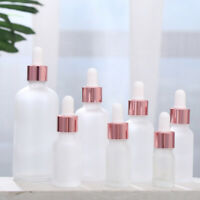 10-100ML Tubes Frosted Dropper Amber Glass Aromatherapy Liquid Refillable Bottle