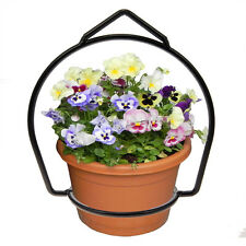 Brinkman Wrought Iron Flower Flower Pot Plant Hanger Ring Votive Holder Outdoor