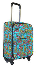 Paisley Carry On Spinner Luggage Suitcase Rolling Wheeled Lightweight Travel