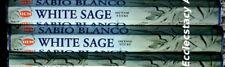 Hem White Sage Incense 2 x 20 Stick, 40 Sticks Cleansing-Blessing {:-)