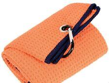 Lot 3 Tri-fold Golf Towel Premium Microfiber Fabric Waffle 16x21 Carabiner Hook
