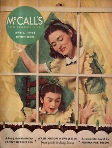 1943 McCalls April - Neighbors that help -Garland TX, Brookline MA; Lucille Ball