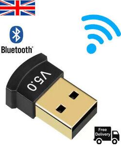 USB Bluetooth V 5.0 CSR Wireless Mini Dongle Adapter For Win7 8 10 Laptop  PC