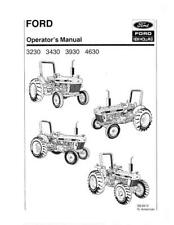 NEW HOLLAND FORD 3230 3430 3930 4630 TRACTOR SE4810 OPERATOR`S MANUAL