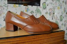 Roter Stern Damen Pumps made in DDR 50er True Vintage 60er GDR braun Ballenschuh