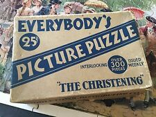 """Vintage Everybody'S Picture Puzzle Middletown Distributing Co. """"The Christening"""""""