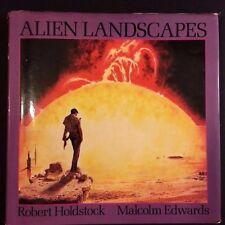 Alien Landscapes by Malcolm Edwards & Robert Holdstock (1979, Hardcover) 1st Ed.