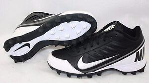 NEW Boys Kids Youth NIKE Land Shark 3/4 511296 010 Black Football Cleats Shoes