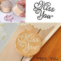 DIY Floral Flower Pattern Round Wooden Rubber Stamp Scrapbook Letter Stamp Pop