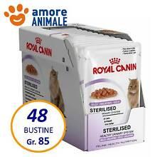 48 BUSTINE - Royal Canin Sterilised in Gelatina 85 gr. Gatti Sterilizzati