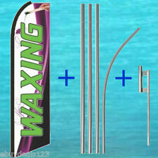 Waxing Feather Flutter Flag + 15' Pole + Mount Swooper Banner Advertising Sign