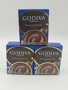 Godiva Instant Chocolate Pudding Mix 3.7 oz (3 Boxes) Exp March 2022
