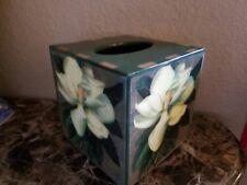 New Annie Modica Magnolia Flower Tissue Box Dispenser Cover