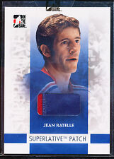 2008-09 ITG SUPERLATIVE JEAN RATELLE PATCH SILVER 1/30