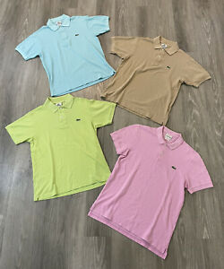 Lot of 4 Lacoste Live Polo Shirt Men's Size 3 Small